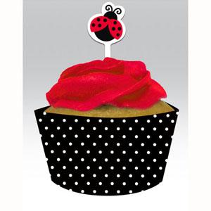 Ladybug Cupcake Wrap & Topper pack