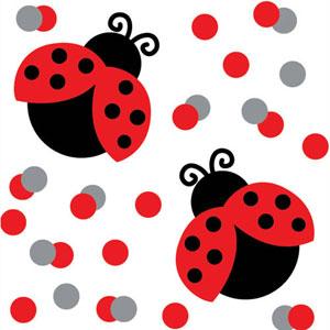Ladybug Fancy Printed Confetti
