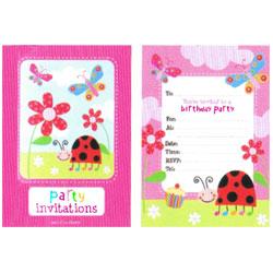 Ladybug Invitation Pad