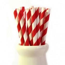 Straws Stripes Red