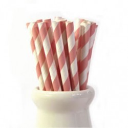 Straws Stripes Pink