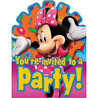 Minnie Mouse Invitations & Envelopes