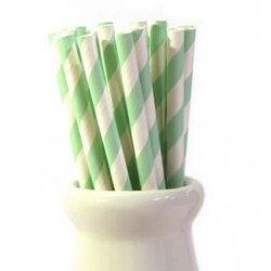 Straws Stripes Green