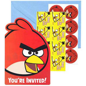 Angry Birds Invitation & Envelopes