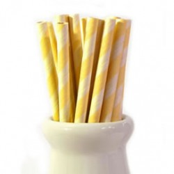 Straws Yellow Stripe
