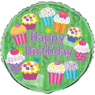Cupcake Foil Balloon