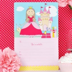 Pretty Princess Invitations & Envelopes