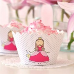 Pretty Princess Cupcake Wrappers