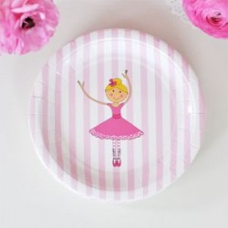 Pretty Ballerina Dessert Plates