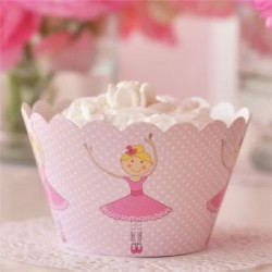 Pretty Ballerina Cupcake Wrappers