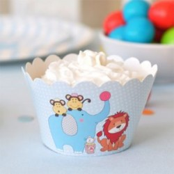 Little Circus Cupcake Wrappers