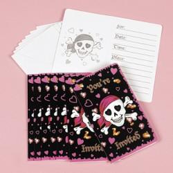 Pirate Girl Invitations & Envelopes