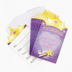 Crown Princess Invitations & Envelopes