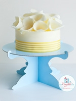 Cake Stand One Tier Blue