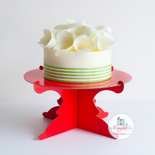 Cake Stand One Tier Red