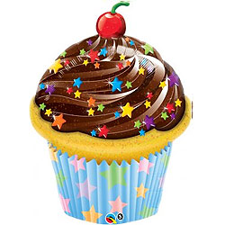 Cupcake Supershape Foil Balloon