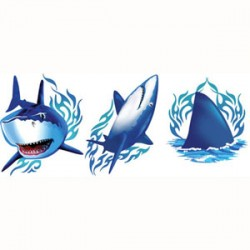 Shark Splash Temporary Tattoo