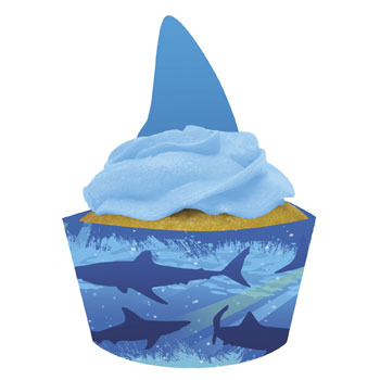 Shark Splash Cupcake Wrapper & Toppers