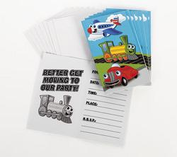 Planes, Trains & Cars Invitations & Envelopes