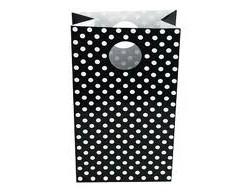 Black Polka Dot Loot Bag