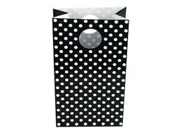 Black Polka Dot Loot Bag