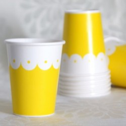 Lacey Yellow Cup
