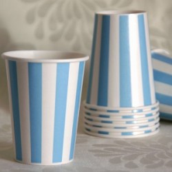 Stripe Blue Cup
