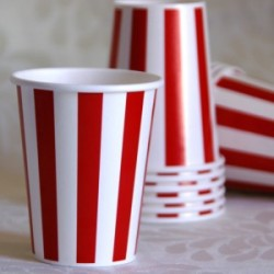 Stripe Red Cup