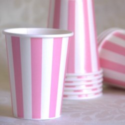 Stripe Pink Cup
