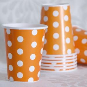 Dot Orange Cup
