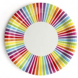 Rainbow Stripe Plates