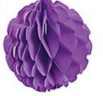 Tissue Honeycomb Ball Purple