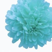 Tissue Pom Pom Blue