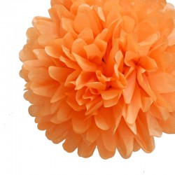 Tissue Pom Pom Peach