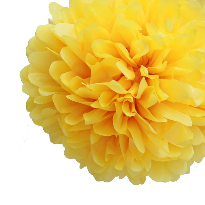 Tissue Pom Pom Yellow
