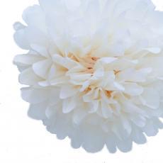 Tissue Pom Pom Ivory