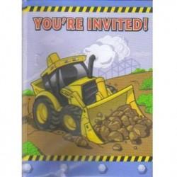 Construction Invitation & Envelopes