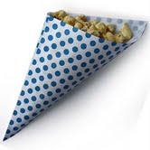 Treat Cone Blue Polka Dot