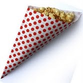 Treat Cone Red Polka Dot