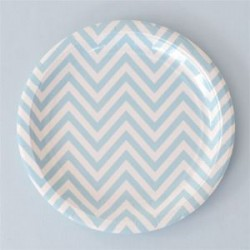 Chevron Blue Plates