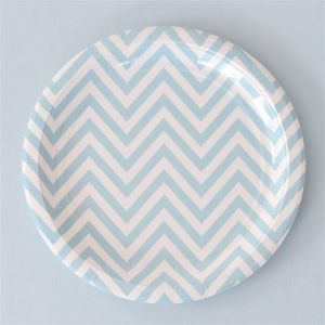 Chevron Blue Plates