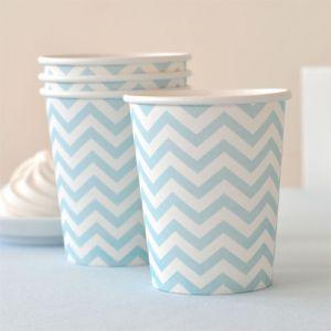 Chevron Blue Cups