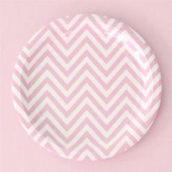Chevron Pink Plates