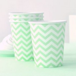 Chevron Green Cups