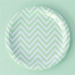 Chevron Green Plates