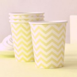 Chevron Yellow Cups