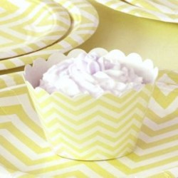 Chevron Yellow Cupcake Wrappers
