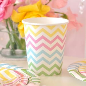 Chevron Rainbow Cups
