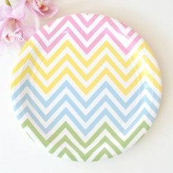 Chevron Rainbow Plates