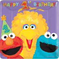 Sesame Street 1st Birthday Large Plates (value pack 18)